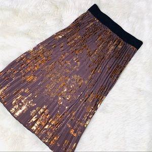 LuLaRoe Elegant Jill Pleated Midi Skirt
